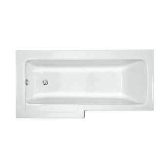 VitrA Neon L-Shaped Shower Bath Left Handed 1700mm x 750mm/850mm 0 Tap Hole