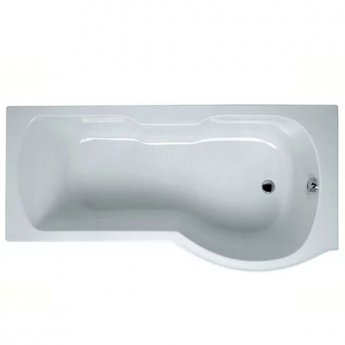 VitrA Optima P-Shaped Shower Bath Right Handed 1700mm X 700mm/850mm 0 Tap Hole