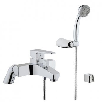 VitrA Q-Line Bath Shower Mixer, Handshower, Chrome