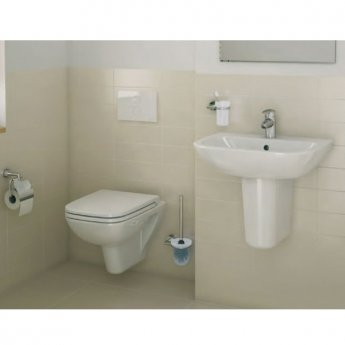 Vitra S20 Cloakroom Basin and Small Semi Pedestal 450mm Wide 1 Tap Hole