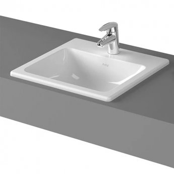 Vitra S20 Compact Countertop Basin with Front Overflow 450mm Wide - 1 Tap Hole