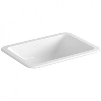 Vitra S20 Compact Countertop Basin with Front Overflow 450mm Wide - 0 Tap Hole
