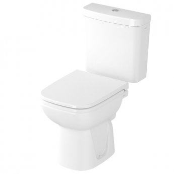 VitrA S20 Close Coupled Toilet WC Push Button Cistern - Soft Close Seat