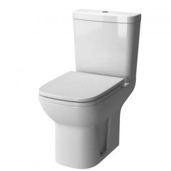 Vitra S20 Close Coupled Toilet Open Back Push Button Cistern - Standard Seat