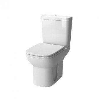 Vitra S20 Close Coupled Toilet Open Back Push Button Cistern - Soft Close Seat