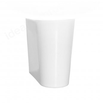 Vitra S50 Square Basin and Small Semi Pedestal 450mm Wide 1 Tap Hole