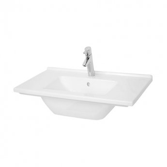Vitra S50 Vanity Basin 800mm Wide 1 Tap Hole