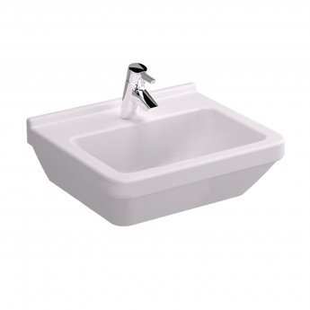 Vitra S50 Square Basin and Full Pedestal 500mm Wide 1 Tap Hole