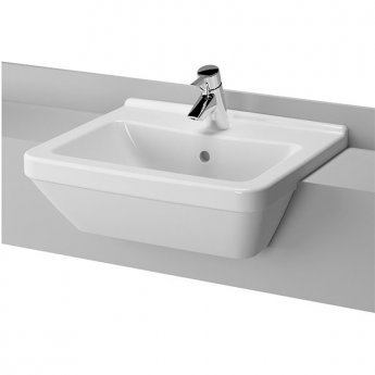 Vitra S50 Semi Recessed Basin 550mm Wide 1 Tap Hole