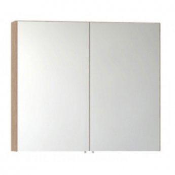 VitrA S50 Mirror Cabinet 800mm W Oak