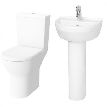 VitrA S50 Value Suite Close Coupled Toilet 450mm 1 Tap Hole Basin
