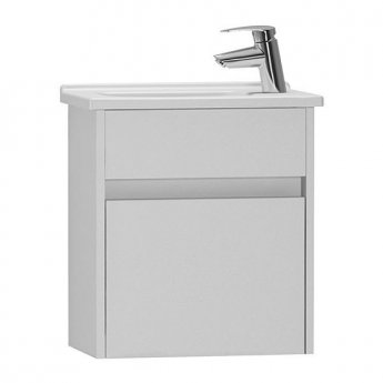 Vitra S50 Compact Vanity Unit with Basin 450mm Wide Gloss White 1 Tap Hole