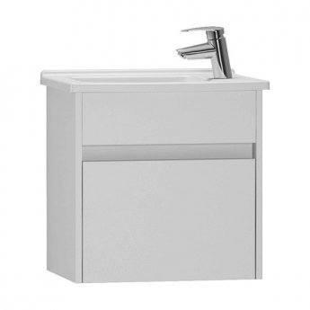 Vitra S50 Compact Vanity Unit with Basin 500mm Wide Gloss White 1 Tap Hole