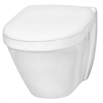 VitrA S50 480mm Short Projection Wall Hung Toilet WC - Soft Close Seat