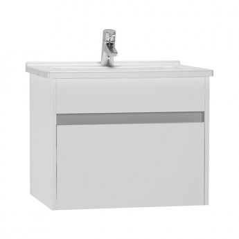 Vitra S50 Vanity Unit with Basin 600mm Wide Gloss White 1 Tap Hole