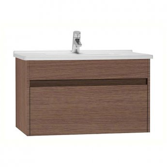 Vitra S50 Vanity Unit with Basin 800mm Wide Oak 1 Tap Hole