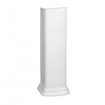 Vitra Serenada 600mm Basin and Full Pedestal 2 Tap Hole