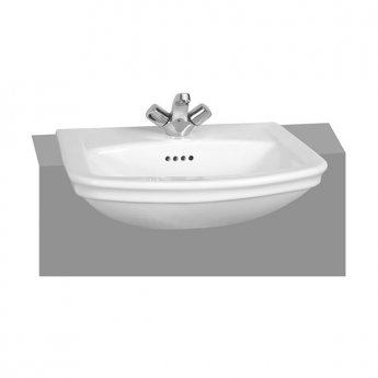 Vitra Serenada Semi Recessed Basin 560mm Wide 1 Tap Hole