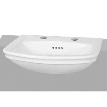 Vitra Serenada Semi Recessed Basin 560mm Wide 2 Tap Hole