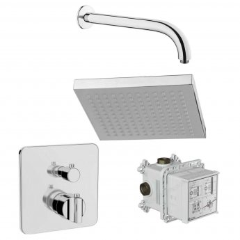 Vitra Suit Option 3 Concealed Mixer Shower with Rain Q Fixed Shower Head
