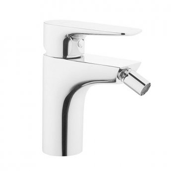 VitrA X-Line Bidet Mixer Tap with Pop Up Waste, Chrome