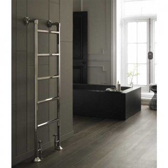 Vogue Art Moderne 7 Heated Towel Rail 1545mm H x 550mm W Dual Fuel