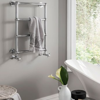 Vogue Ballerina BJ Traditional Heated Towel Rail 750mm H x 500mm W Central Heating