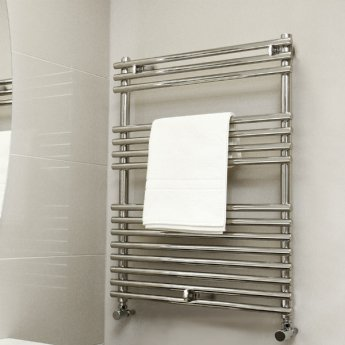 Vogue Stella Heated Towel Rail 800mm H x 450mm W Central Heating