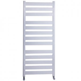 Vogue Vela Heated Towel Rail 950mm H x 500mm W Central Heating - White