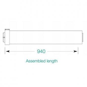Warmflow HE 1000mm Flue Kit Extension Pipe
