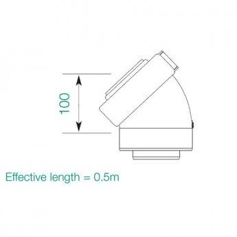 Warmflow HE 45 Degree Flue Bend for Oil Boiler