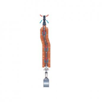 Warmflow Vertical Entry Flue Liner Kit 10 Metre - Plastic