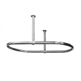 West Luxury Oval Shower Curtain Rail Ceiling Stays - 1091mm Length