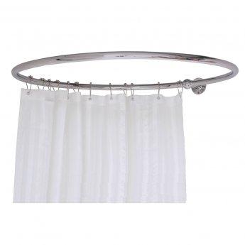 West Luxury Round Shower Curtain Rail Side Stays - 850mm Wide