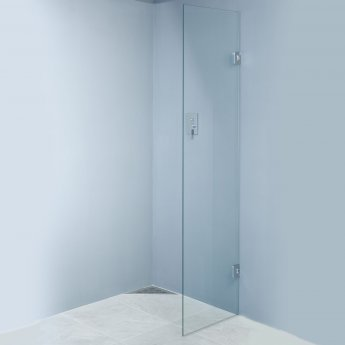 Wetroom Innovations Hinged Wet Room Screen 1990mm H x 200mm W - 8mm Glass