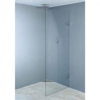 Wetroom Innovations Hinged Wet Room Screen 1990mm H x 400mm W - 10mm Glass