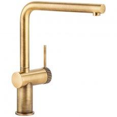 Abode Fraction Kitchen Sink Mixer Tap - Antique Brass