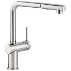 Abode Fraction Pull Out Kitchen Sink Mixer Tap - Brushed Nickel