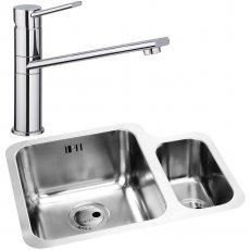 Abode Matrix 1.5 LH Bowl Kitchen Sink with Specto Sink Tap 572mm L x 450mm W - Stainless Steel
