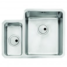 Abode Matrix R25 1.5 Right Handed Bowl Undermount Kitchen Sink 580mm L x 450mm W - Stainless Steel