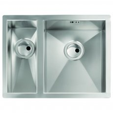Abode Matrix R0 1.5 Right Handed Bowl Undermount Kitchen Sink 596mm L x 460mm W - Stainless Steel