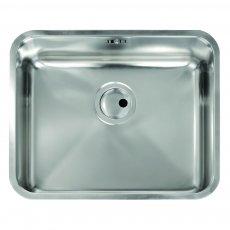 Abode Matrix R50 1.0 Bowl Undermount Kitchen Sink 535mm L x 435mm W - Stainless Steel