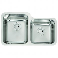 Abode Matrix R50 1.75 Left Handed Main Bowl Kitchen Sink 755mm L x 450mm W - Stainless Steel