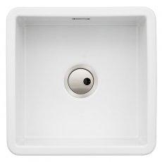 Abode Sandon 1.0 Bowl Ceramic Kitchen Sink 460mm L x 460mm W - White