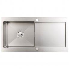 Abode Verve 1.0 Bowl Inset Kitchen Sink 1000mm L x 530mm W - Stainless Steel