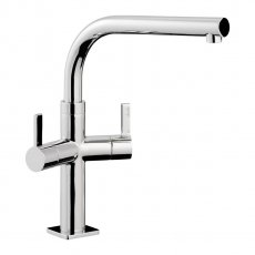 Abode Zucca Monobloc Dual Lever Kitchen Sink Mixer Tap - Chrome