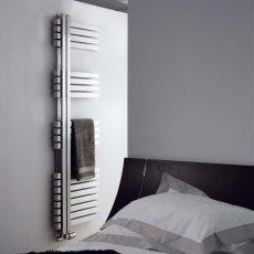 Aeon Combe Right Handed Designer Heated Towel Rail 920mm H x 500 W - Brushed Matt