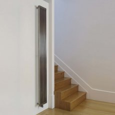 Aeon Venetian Designer Vertical Radiator 1000mm H x 630mm W - Brushed Matt