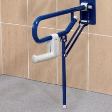 AKW 1800 Series Support Leg Folding Grab Rail, 765mm Length, Blue