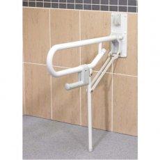 AKW 1800 Series Support Leg Folding Grab Rail, 765mm Length, White